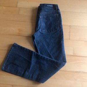 Blk flared legged vintage denim jeans